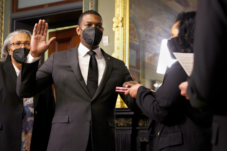 Michael Regan is sworn in as EPA administration in March 2021