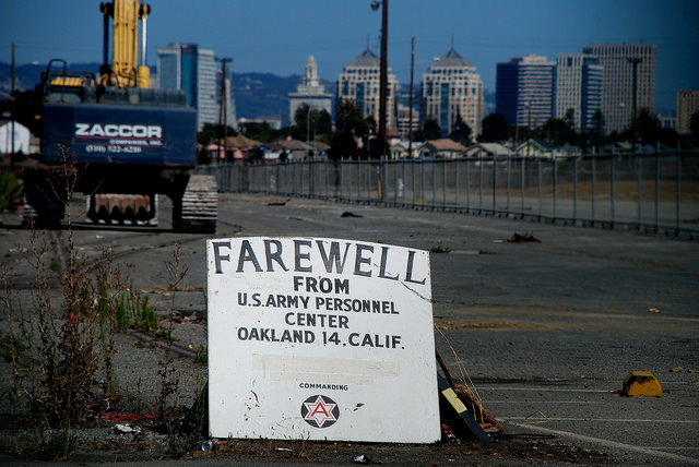 The Oakland Army base after its closure.