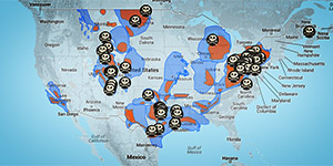 A map of fracking accidents.