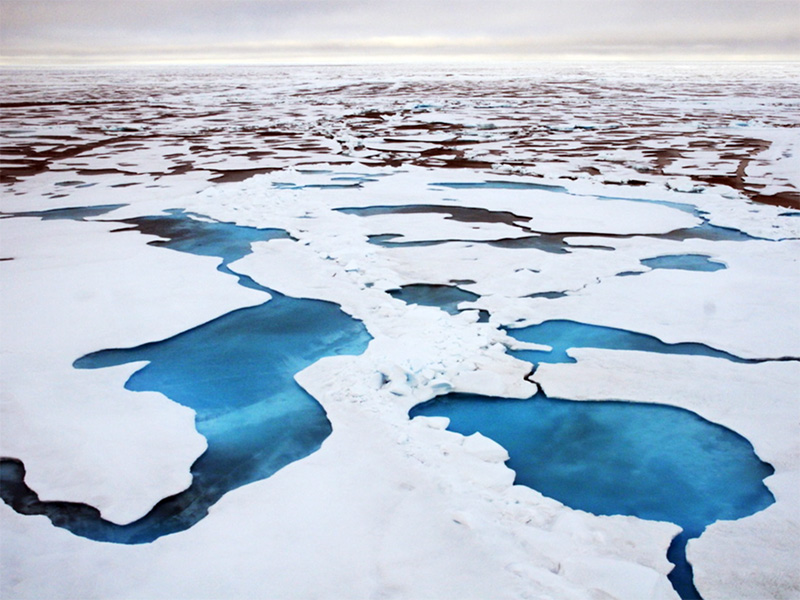 Sea ice in the Arctic's Chukchi Sea. The Artic is warming at twice the global average.