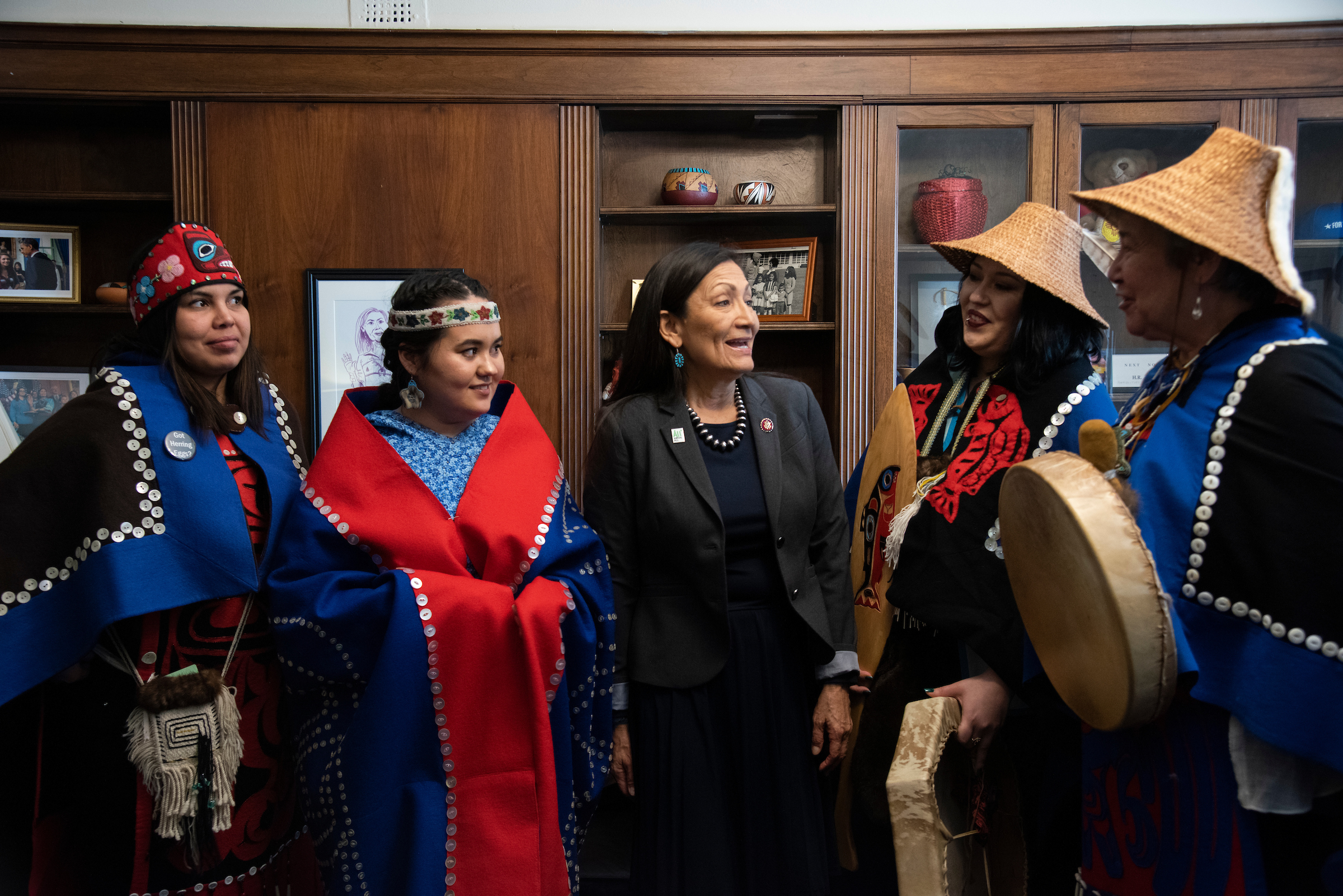 The delegation meets with New Mexico Rep. Deb Haaland, one of the first two Indigenous women ever elected to Congress
