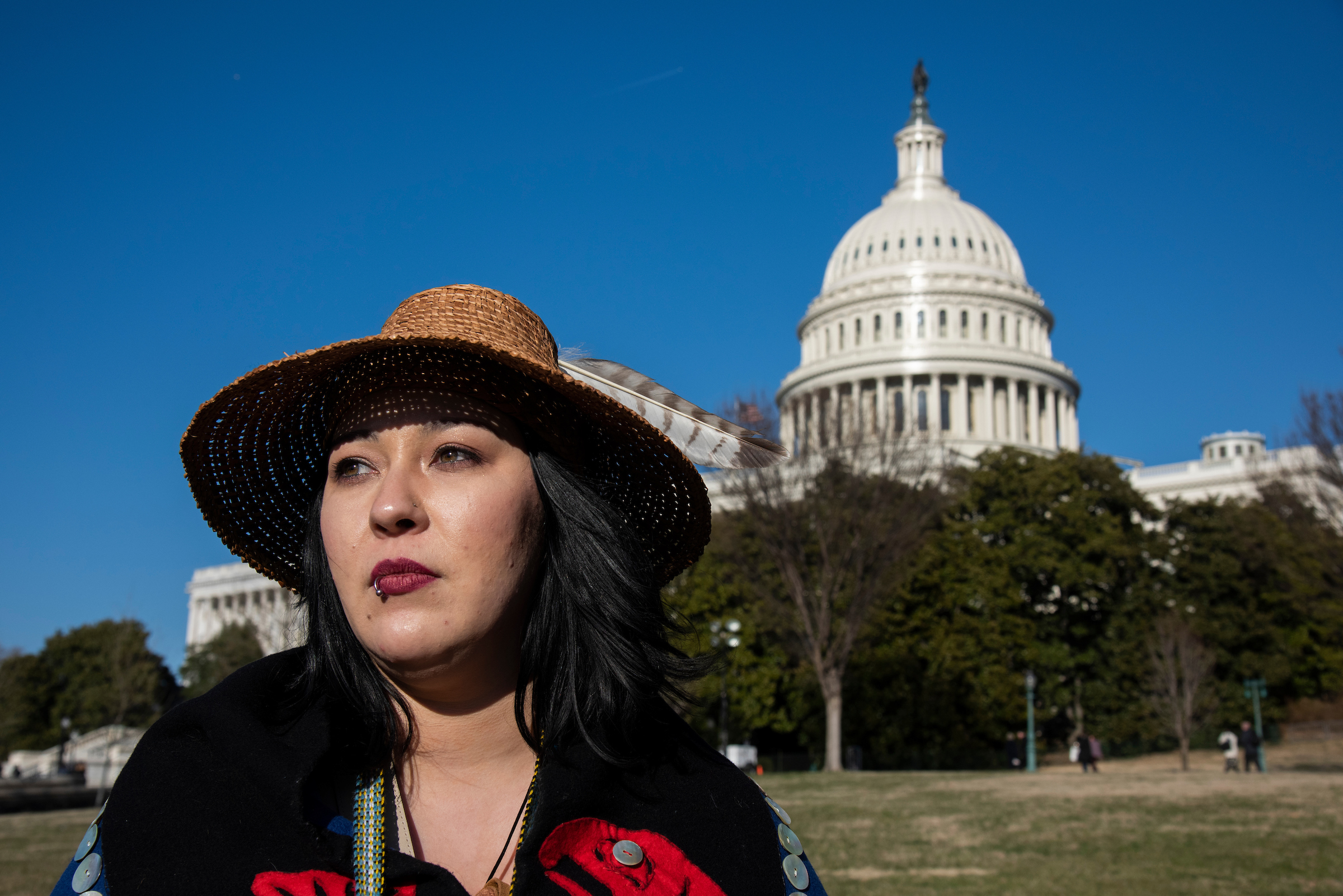 Kari Ames stands in front of the U.S. Capitol.