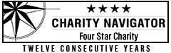 Charity Navigator: Four-Star Rated Charity, for twelve consecutive years.