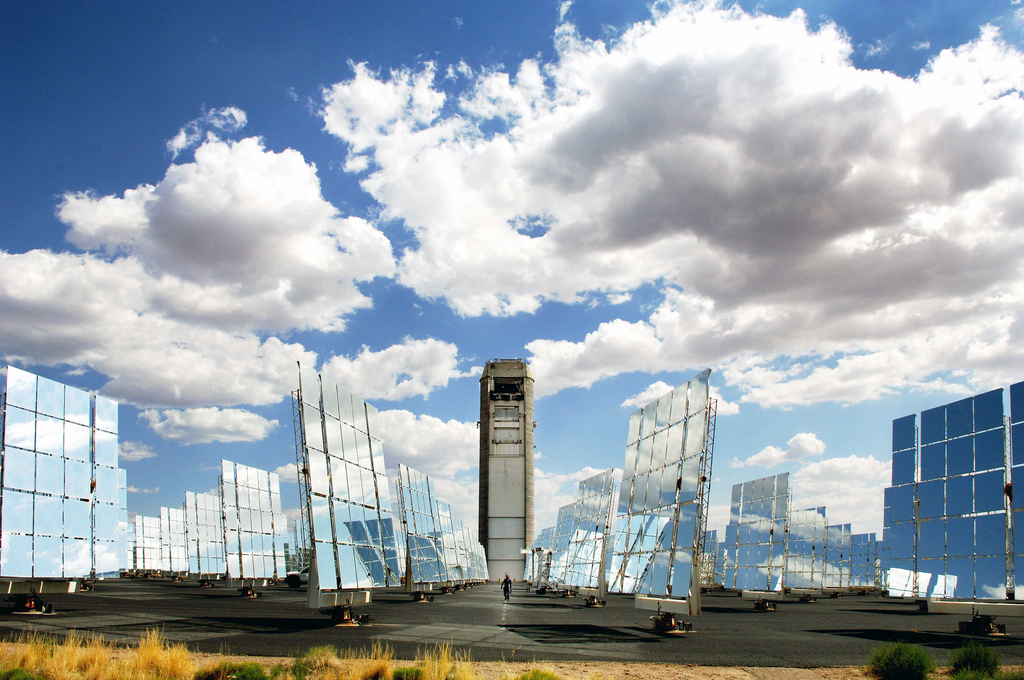 The National Solar Thermal Test Facility in New Mexico.