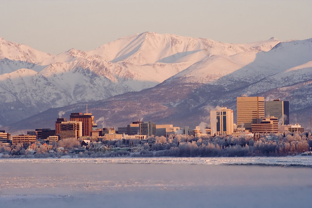 Typical winter weather in Anchorage.