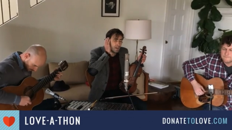 "Andrew Bird (Musician, songwriter):  ""Earthjustice is an organization that provides legal support to environmental groups like Sierra Club and many, many others. They do really good work."" Then performed ""Tables and Chairs."""