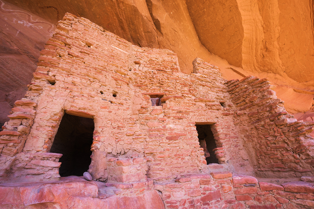 An ancient dwelling inset into a cliff face in Bears Ears National Monument.
