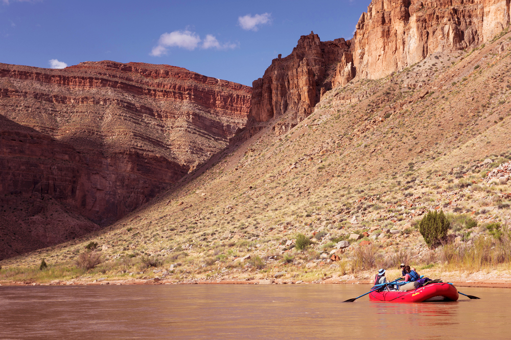 Boaters on the San Juan River in Bears Ears National Monument.