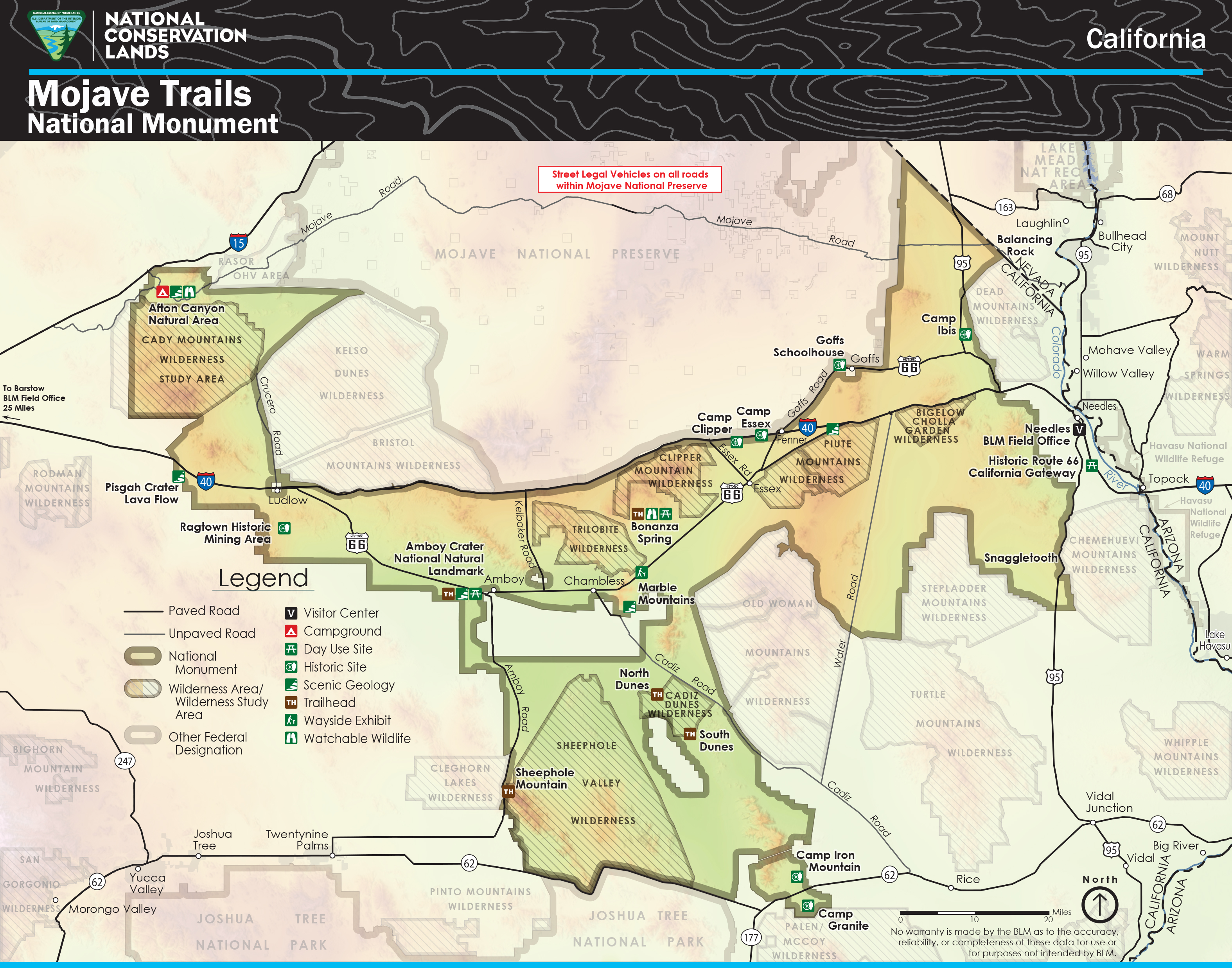The Mojave Trails National Monument spans 1.6 million acres of federal lands.