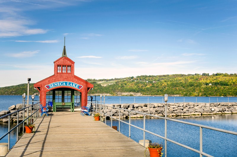Pier in Seneca Lake, NY.