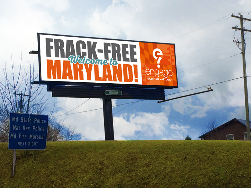 A new billboard welcomes visitors as they enter McHenry, Md.