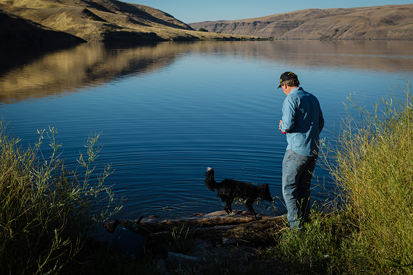 Jones observes the coincidentally named Bryan Lake and hopes that the dam that created it will be removed to allow the Snake River to flow freely again.