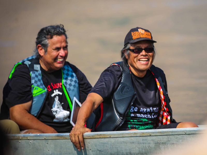 Julian Matthews (left) and Elliott Moffett of Nimiipuu Protecting the Environment work to protect tribal lands and waters.
