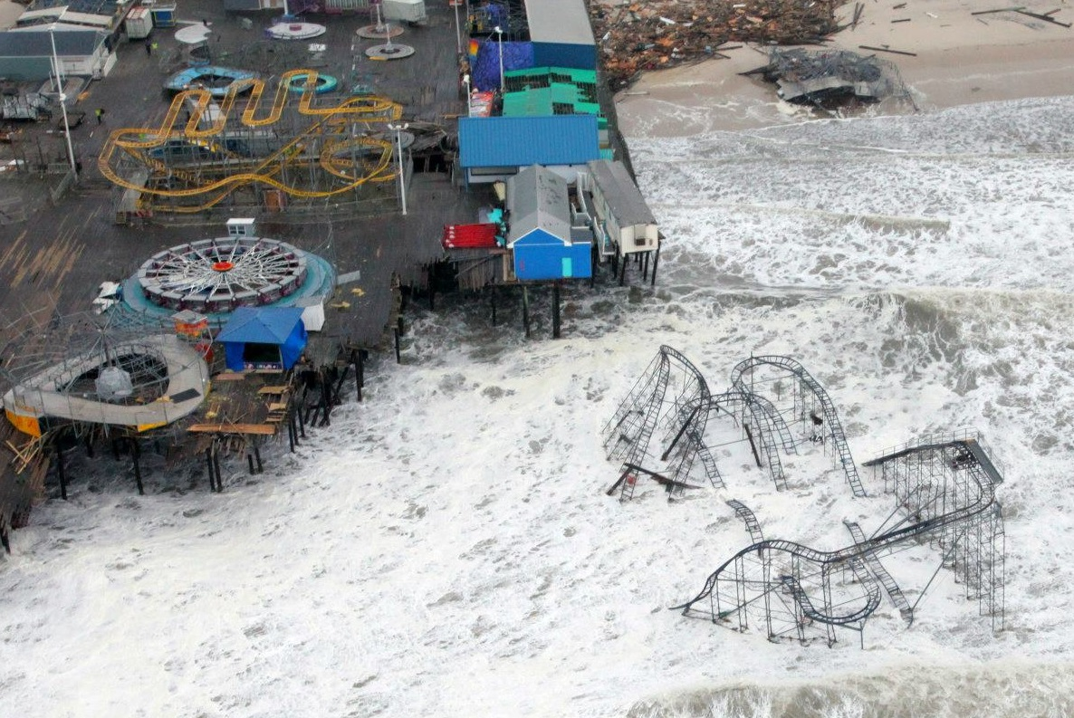 Aerial View of Hurricane Sandy