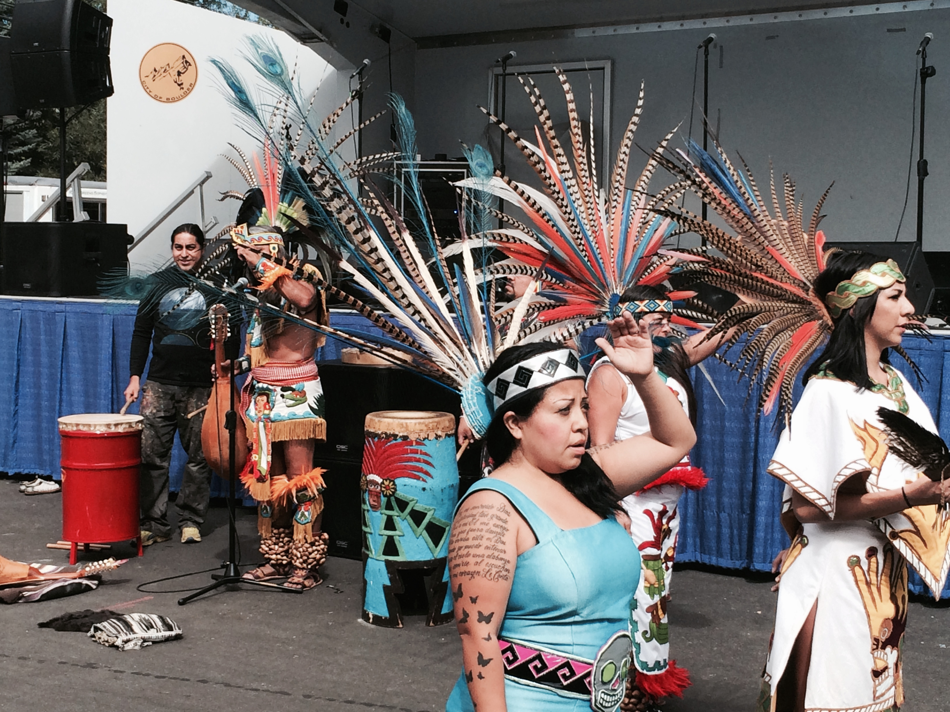 Dancers at an event held at the 2014 Americas Latino Eco Festival