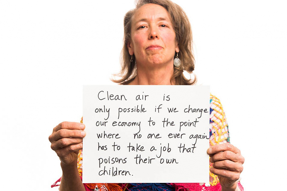 Clean Air Ambassador Robin Kristufek, with her reasons for fighting for clean air.