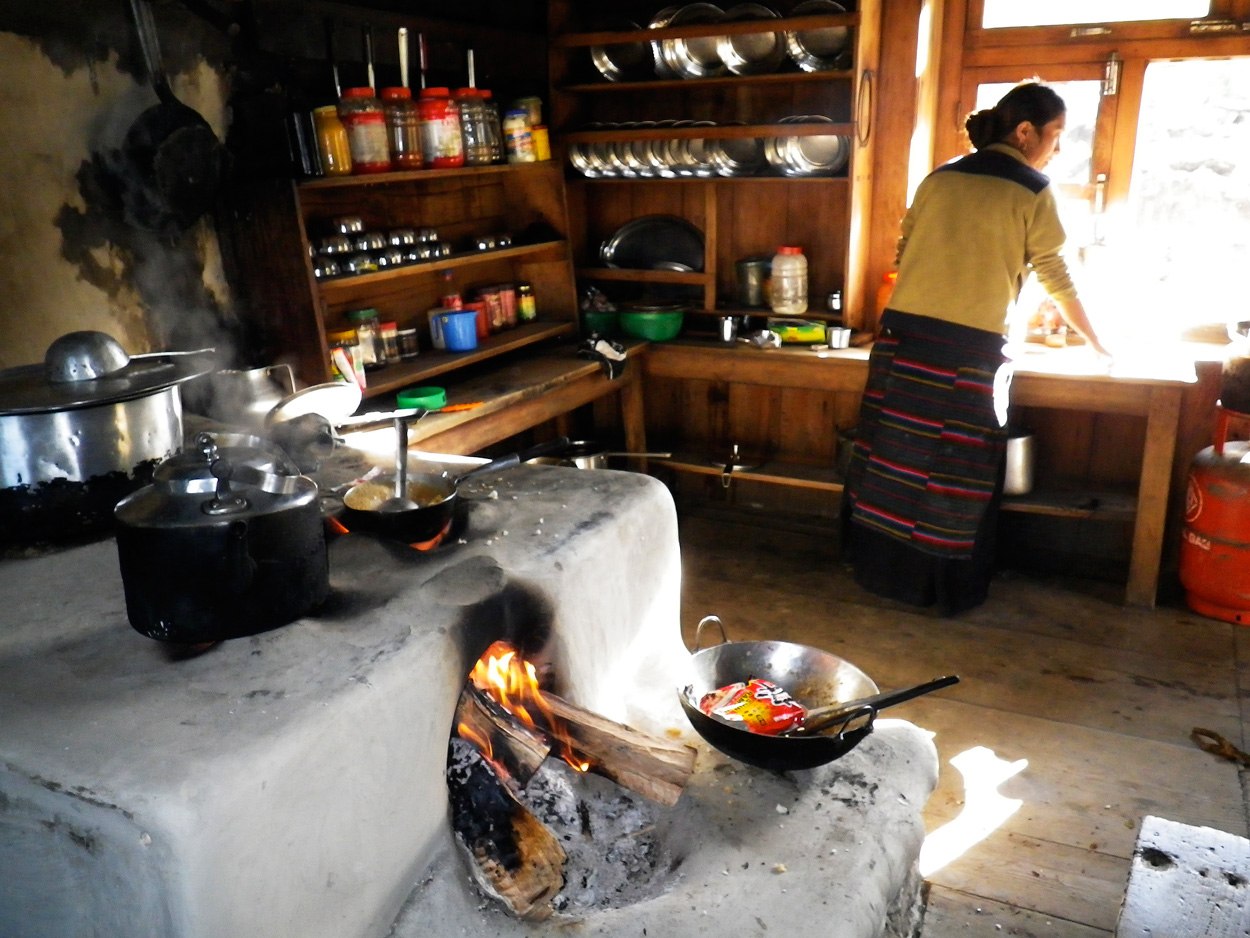 Hearth fires like this one in Nepal produce 25% of the world's black carbon.