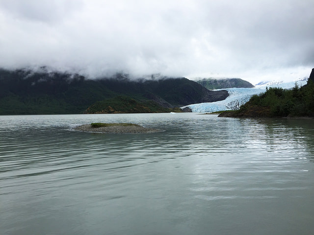 The Mendenhall Glacier in Tongass National Forest