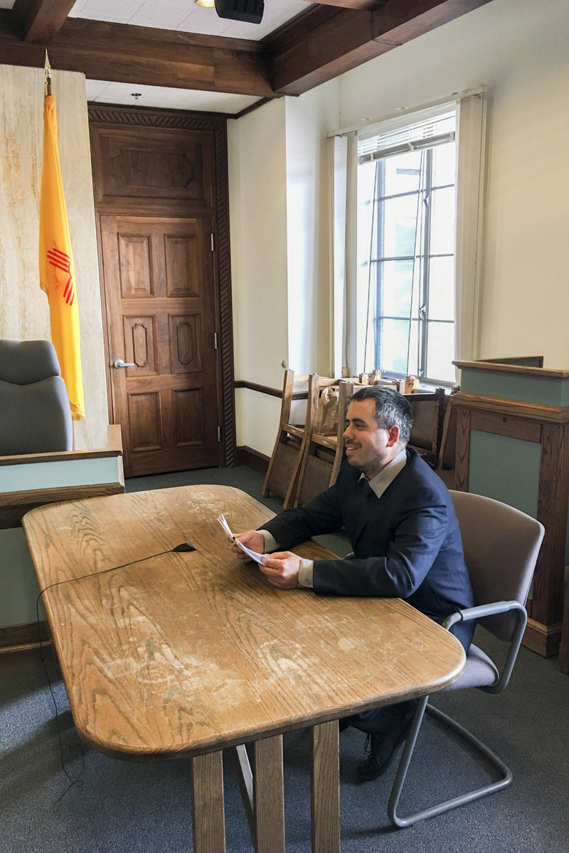 Solar installer Chris Dizon told the New Mexico Public Regulation Commission that Rate 59 has made it harder for him to expand his business.