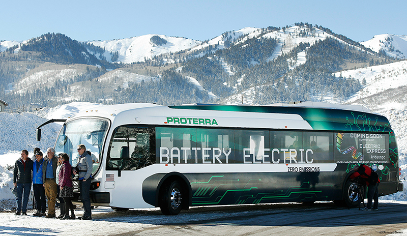 A Proterra electric bus.