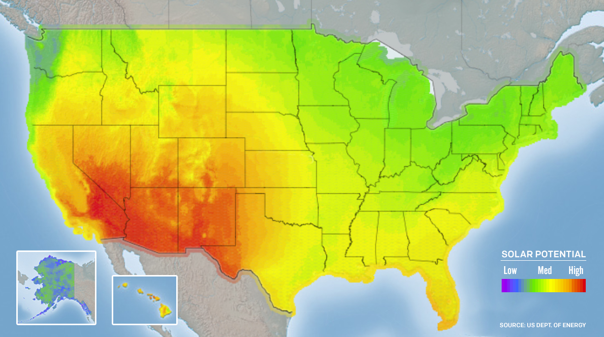 Power To The People Americas Rooftop Revolution Earthjustice - Solar power map us