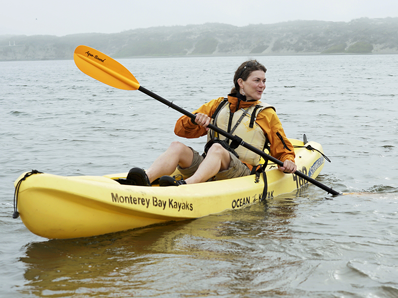 When Earthjustice attorney Andrea Treece is not defending marine life in court, she can be found kayaking in California waters.