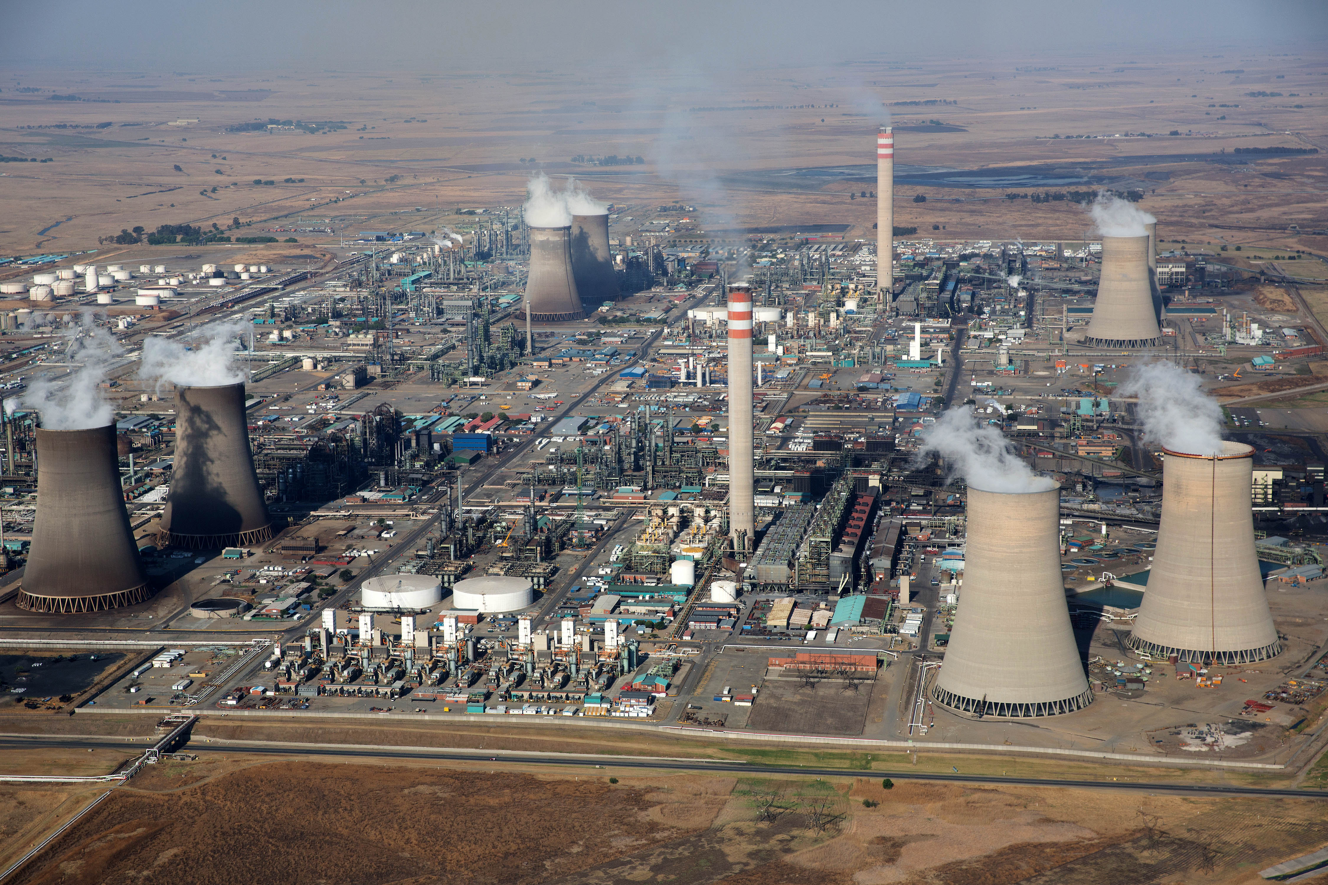 Secunda Power Station pollutes Mpumalanga.