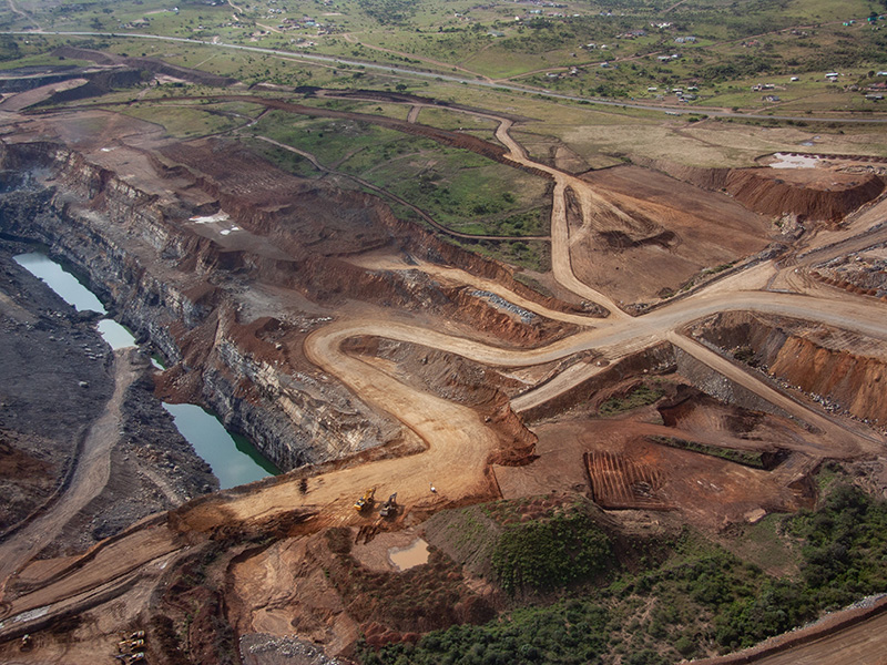 Aerial view of Somkhele mine.