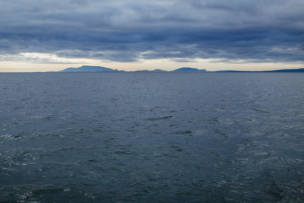 TThe Salish Sea near the U.S.-Canada border.