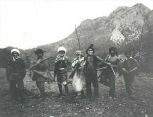Winnemem War Dancers protesting the Baird Hatchery in the 1870s