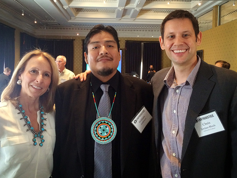 From left to right, Lisa Evans, William Anderson, and Chris Jordan-Bloch at an Earthjustice meeting in Washington, D.C.