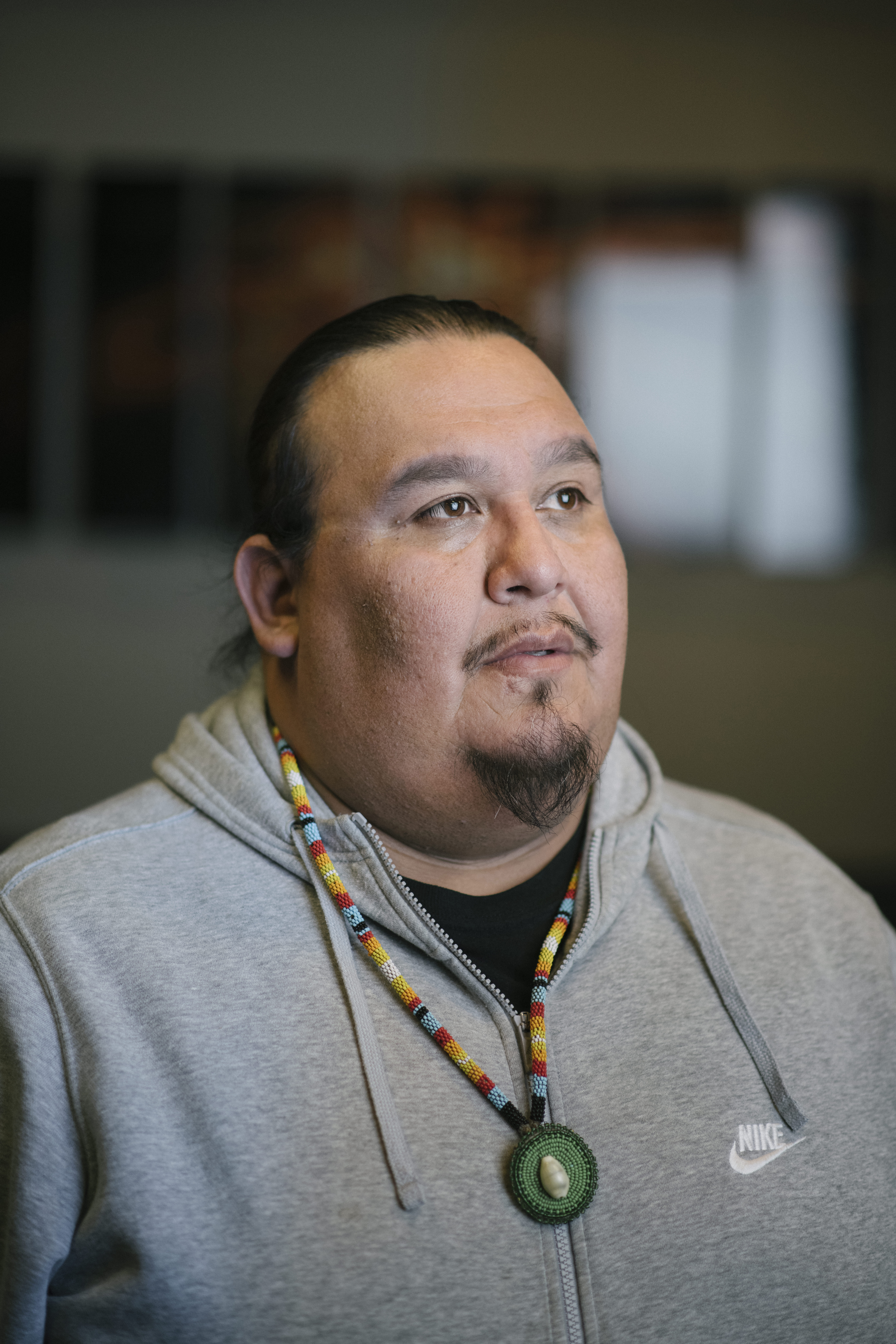 Guy Reiter, whose Menominee name is Anahkwet, is executive director of Menikanaehkem, a grassroots organization based on the Menominee Reservation.