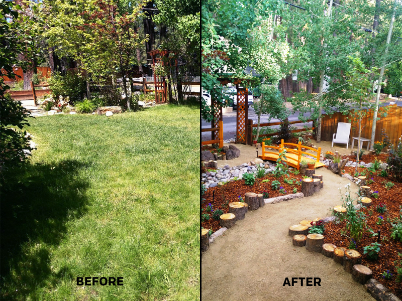 One Lake Tahoe lawn that has undergone a drought-friendly makeover with the help of the STPUD.