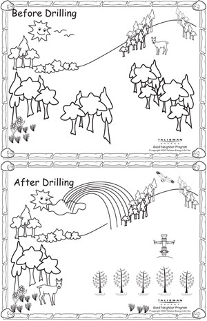 Talisman Energy Before and After Drilling Coloring Book excerpt