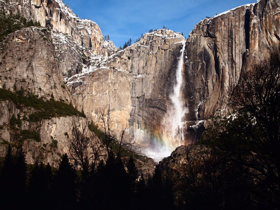 Yosemite falls on a December day. (Sam Edmondson)