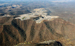 Mountaintop removal mining. (OVEC)