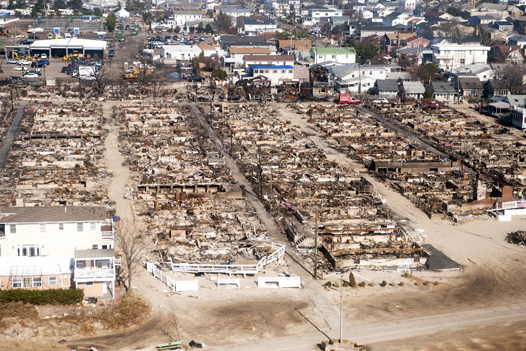An aerial view of Breezy Point and Long Beach, NY, Nov. 12, 2012. (U.S. Navy Petty Officer 1st Class Chad J. McNeeley / Department of Defense)