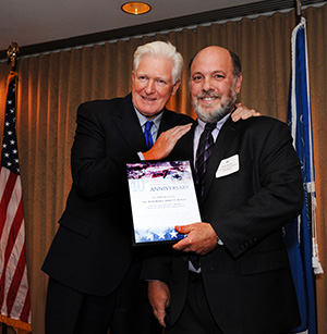 Earthjustice's Marty Hayden, VP of Policy and Legislation, poses with Rep. Jim Moran of Virginia.