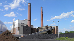 MSU's T. B. Simon Power Plant is the nation's largest coal burning plant on a university. (Michael P. Kube-McDowell)
