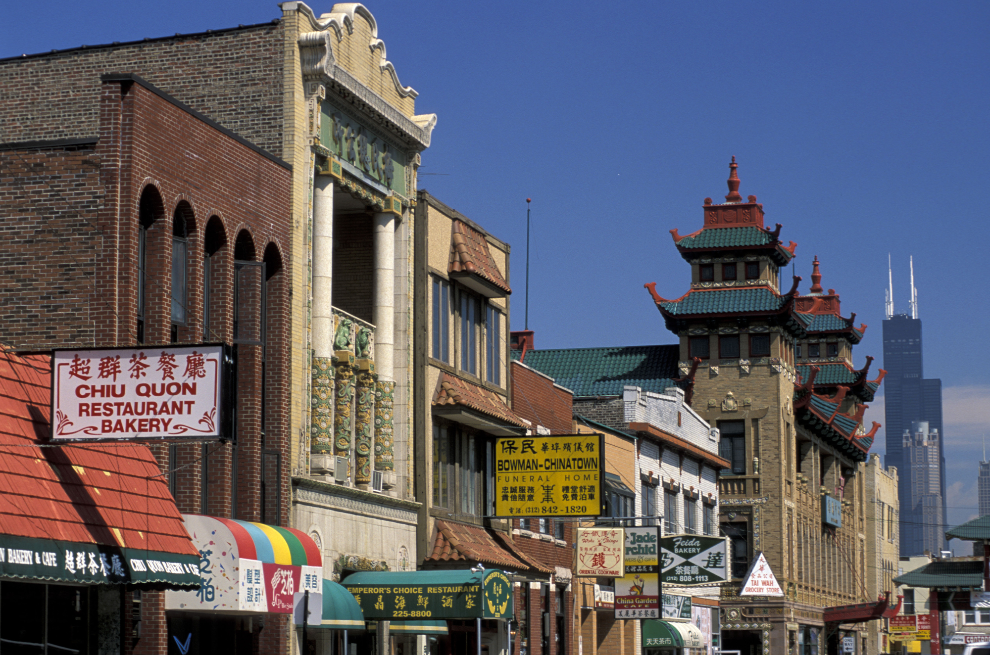 CAAEJ urges residents of Chicago's Chinatown, pictured here, to test their garden soil for lead.