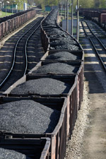 Photo of coal cars.