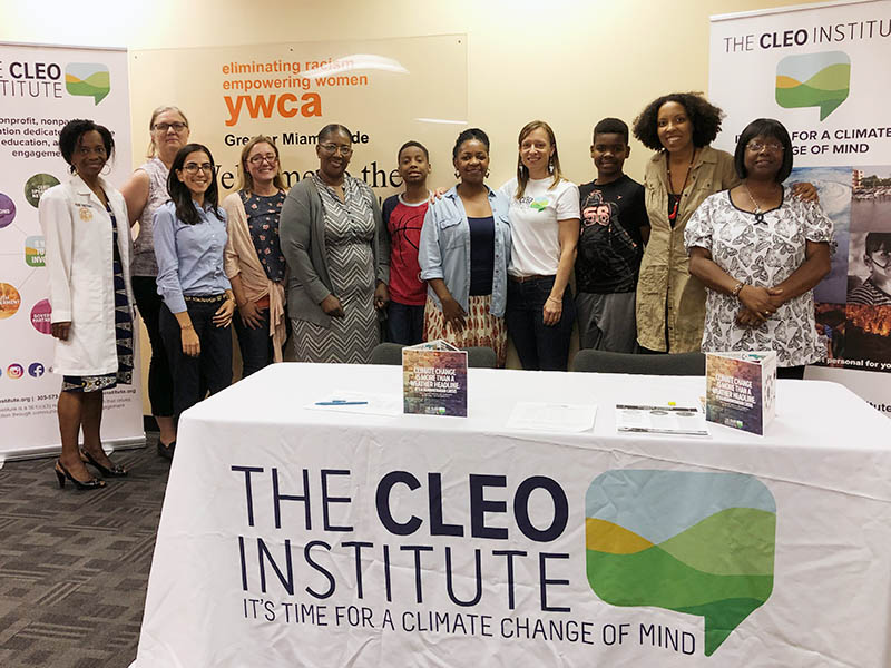 Women pose after completing a CLEO Institute workshop in May 2019. Bereatha Howard stands fifth from the left.