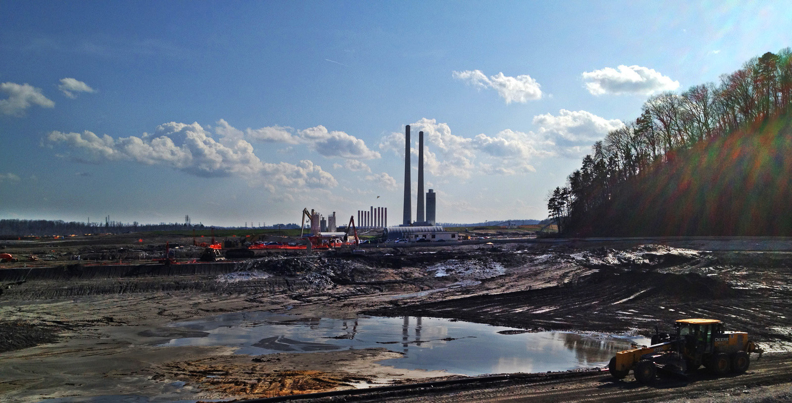 The coal ash disaster at the Kingston Fossil Plant, Tennessee—three years after the spill.