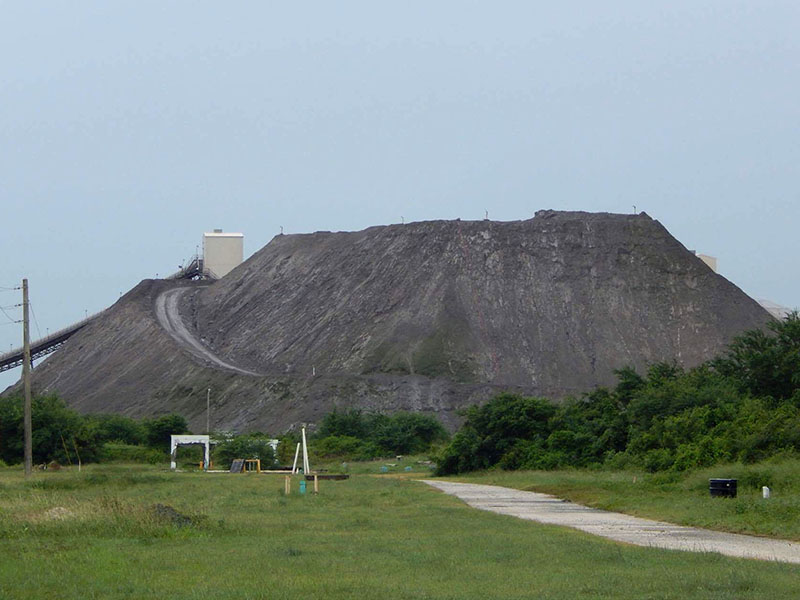 The coal ash pile in Guayama