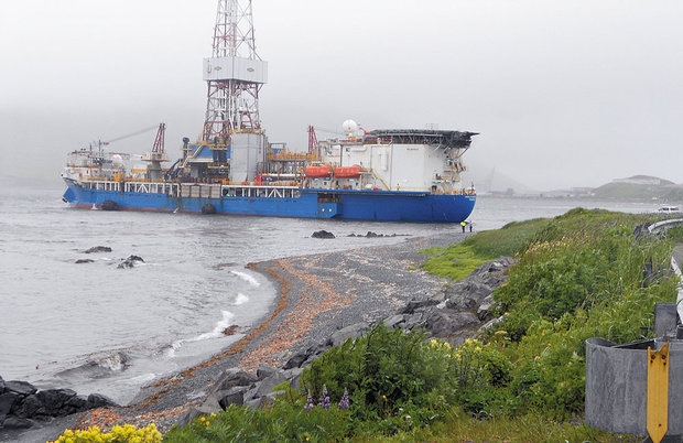 Shell Oil's drill rig Noble Discoverer, which was scheduled to drill three exploratory wells in the Arctic's Chukchi Sea, after drifting from its moorings in Dutch Harbor, AK, in July 2012.