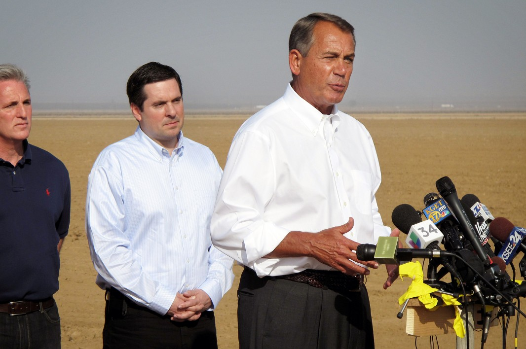 U.S. House Speaker John Boehner (R-OH) in California's Central Valley in January 2014.