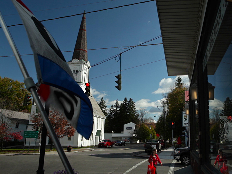 Downtown in Dryden, NY. Dryden's story began in 2009, after residents pressured by oil and gas company representatives to lease their land for gas development learned more about fracking.