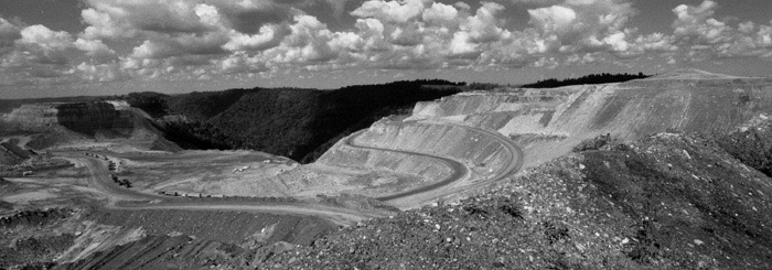 Photo of mountaintop removal mining. Credit: Mark Schmerling.