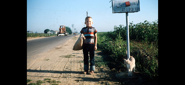 Tom as a young boy, before the influx of large scale dairy farms and oil fields. (Photo courtesy of Tom Frantz.)