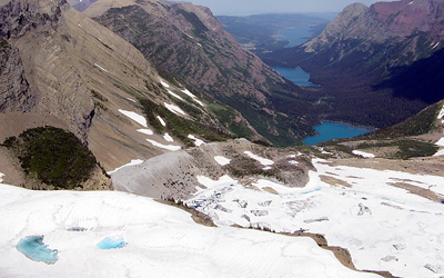 Grinnell Glacier was named by George Bird Grinnell, an American naturalist widely credited as the father of Glacier National Park. (Gene Sentz)